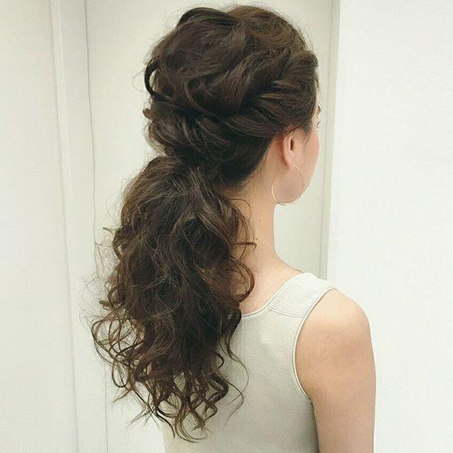 (bridal updo ponytail)