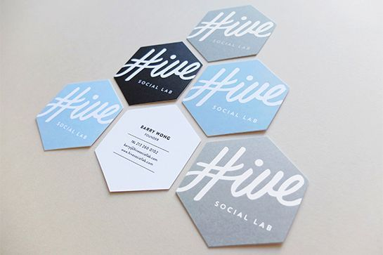 Throwing a party? Hive Social Lab custom-prints your guests' Instagrams so they can take home memorable souvenirs from your bash. An ingenious business model calls for ingenious cards, so design studio Project M+ fashioned hexagon-shaped versions for the company instead of cookie-cutter rectangles.