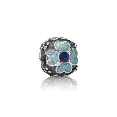 PANDORA | Daisy, blue enamel
