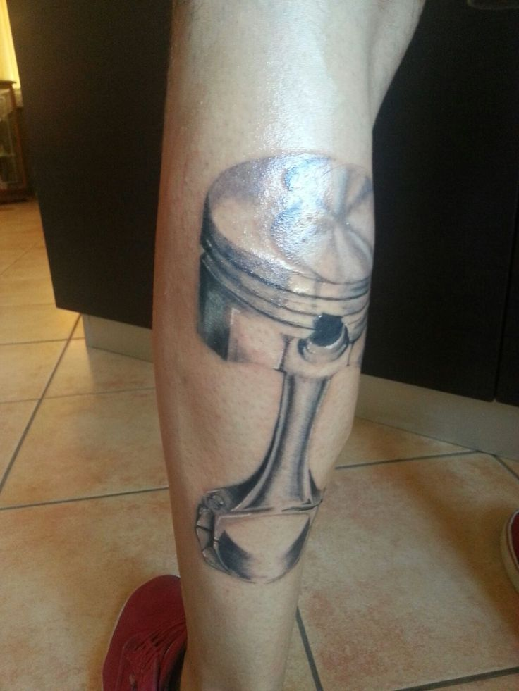 Piston tattoo just schading