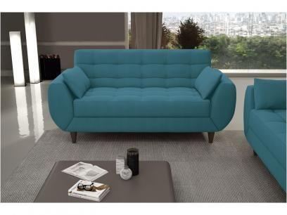 Sofá 3 Lugares Suede Miami Vintage - Linoforte com as melhores condições você encontra no Magazine Fofoca. Confira!