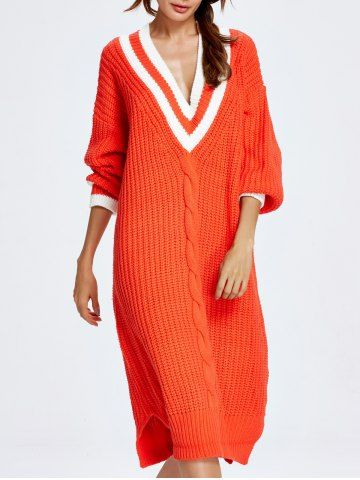 Cable Knit Cricket Sweater Dress - JACINTH ONE SIZE