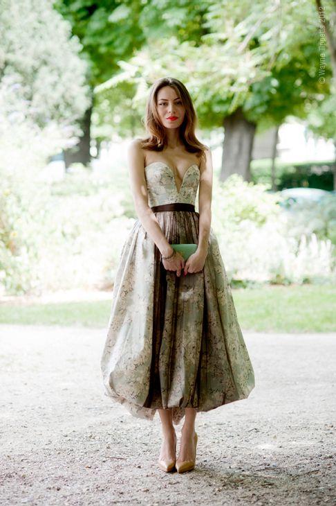 floral strapless cocktail dress / Ulyana Sergeenko
