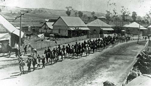 Light Horse on parade in Marburg, 1911