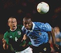 Mexico 2 Uruguay 1 in 2001 in Pereira. Richard Morales heads Uruguay level after 32 minutes in the Semi Final at Copa America. 1-1.