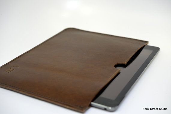 Leather iPad Case Personalized Leather Gift by FelixStreetStudio, $40.00