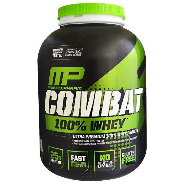 sports-fitness-athletic: Muscle Pharm, Combat, 100% Whey, Vanilla, 5 lbs (2...