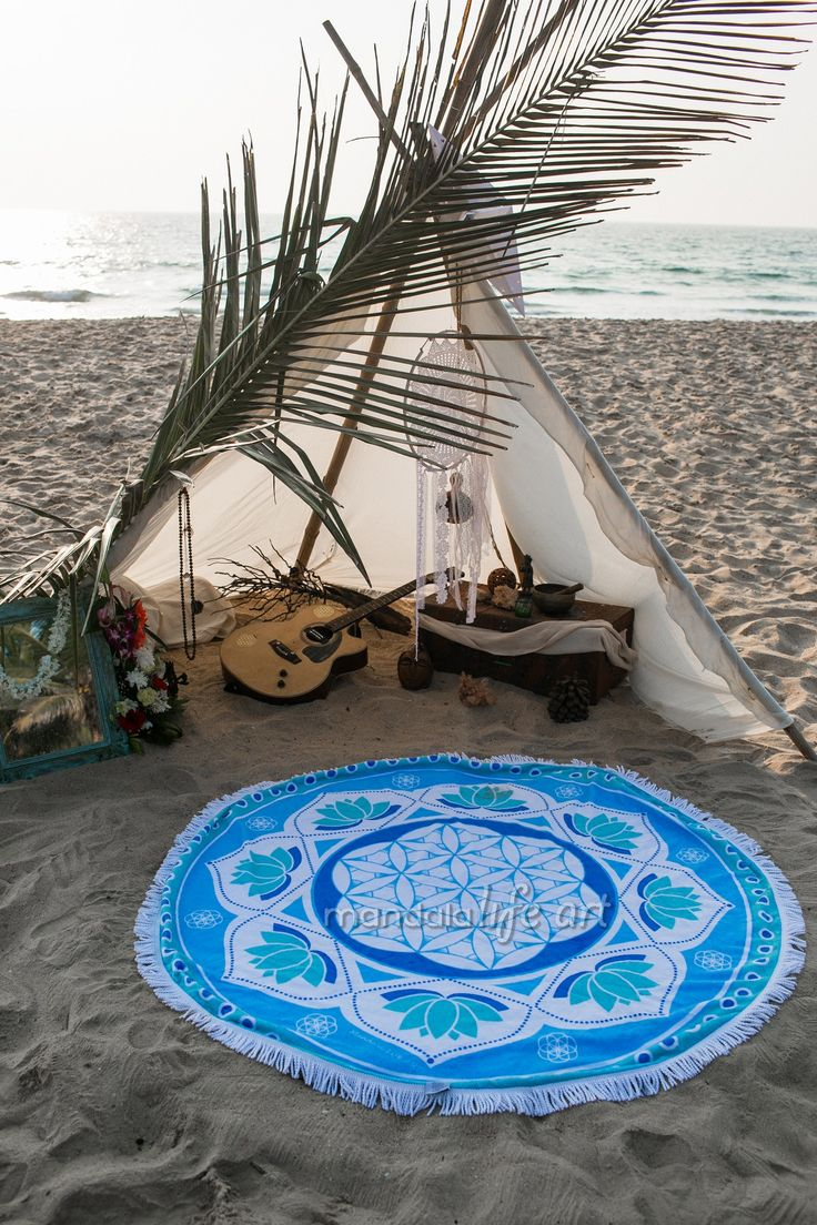Round Beach Towel Collection by Mandala Life ART  #beach #fun #bikini #vibes #dmt #lsd #hippie #psycodelic