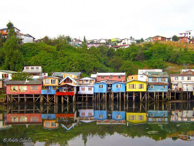 Palafitos de Gamboa, Castro, Chiloé, Chile