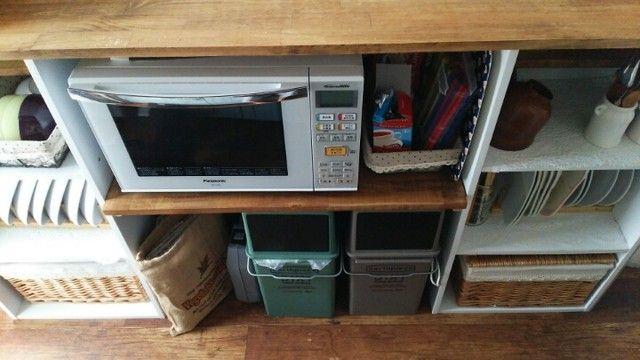 カラーボックスでキッチンカウンターを作ろう キッチンカウンター キッチンカウンター 間仕切り レンジ台 Diy