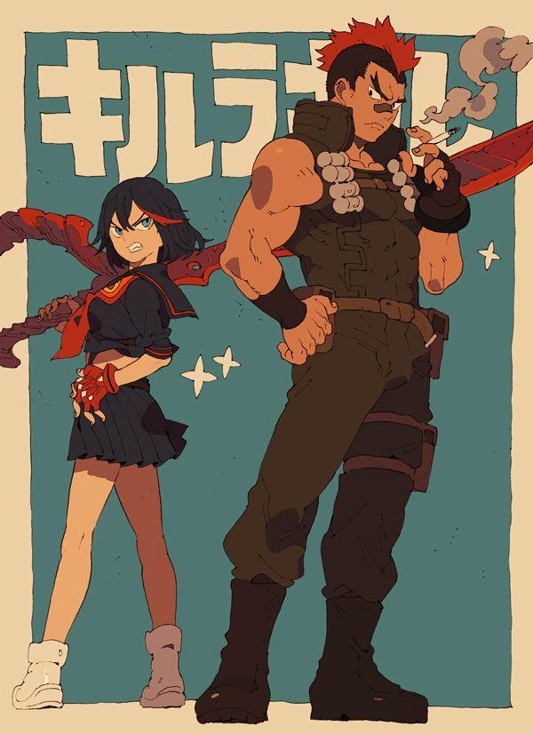 Ryuko Matoi and Tsumugu Kinagase from Kill La Kill animated series from TRIGGER