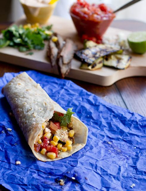 California Burrito with Grilled Zucchini. Its fresh and flavorful, and ...