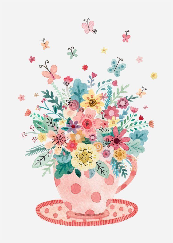 Арт открытки с цветами