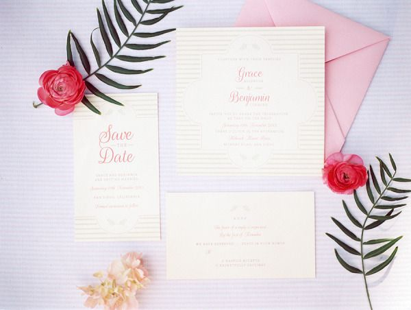 pale pink #invitations by http://www.ohmydesignblog.com, Photography by chelseascanlan.com, Floral and Design by http://bonwed.com  Read more - http://www.stylemepretty.com/2013/09/19/garden-inspired-photo-shoot-from-chelsea-scanlan-photography/