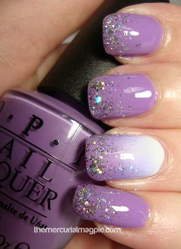 OPI Do You Lilac It? – Swatches & Gradient/Glitter Nail Art