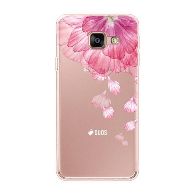 Case For Samsung Galaxy A3 2016 Case Silicon Soft Flower Shell For Samsung A6 2018 For Samsung A3 2016 A6 Plus 2018 Cover Samsung Galaxy A3 Phone Cases Case