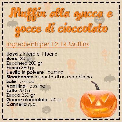 Una Fragola al GiornoFragola in cucina: Muffin alla zucca e gocce di cioccolato (Halloween Time!)by Una Fragola al Giorno