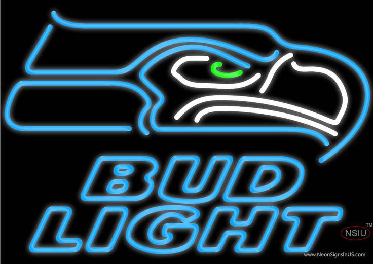 Bud Light Neon Seattle Seahawks NFL Real Neon Glass Tube Neon Sign,Affordable and durable,Made in USA,if you want to get it ,please click the visit button or go to my website,you can get everything neon from us. based in CA USA, free shipping and 1 year warranty , 24/7 service
