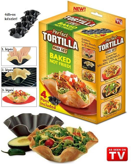 A mexikói konyha nem véletlenül világhírű, ráadásul az összetéveszthetetlenül izgalmas ízvilág és ízléses fűszerezettség miatt egyre kedveltebb itthon is. A tortilla (kukorica lepény) szinte minden fogás egyik szükséges hozzávalója, azonban ezzel a készlettel finom és tökéletes tortilla tálakat készíthetsz magadnak, akár a boltban vásárolható kész tortilla lapokból is.
