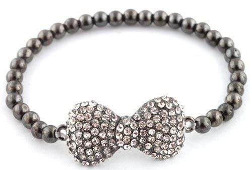 Ladies Black Iced Out 3D Bow Bracelet with Metal Beaded Disco Balls Shamballah JOTW. $2.95. 100% Satisfaction Guaranteed!. Great Quality Jewelry!
