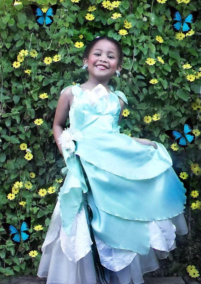 Princess dress made by me. Winner for best dress fairy - Ackermans