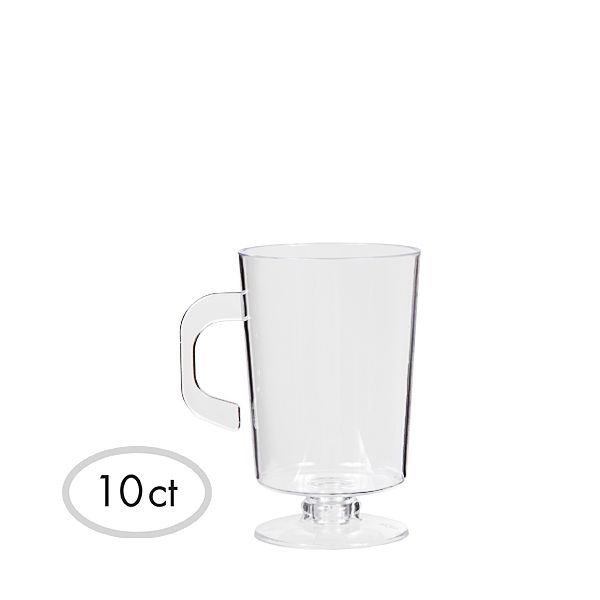 Mini CLEAR Plastic Coffee Cups 10ct  3in Party city
