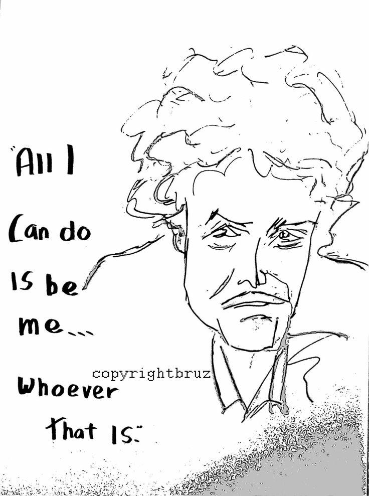 Caricature de Bob Dylan avec citation. Affiches imprimées sur papier mat de haute qualité. Facile à armature. Filigrane napparaît pas et est livré dans un tube de diffusion de qualité.