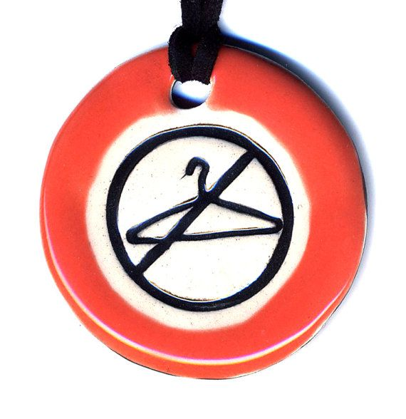 No Wire Hangers Keep Abortion Safe and Legal Ceramic by surly, $18.00