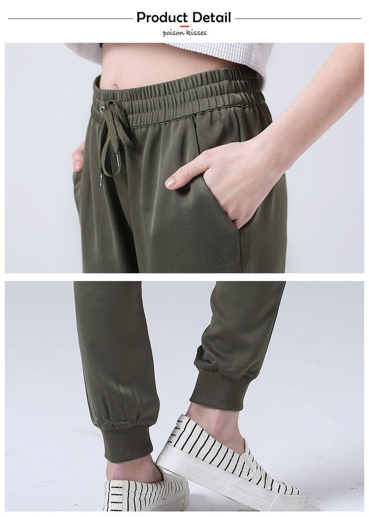 PK army green бегунов женщины брюки фитнес белье шаровары спортивный зеленый femme штаны женские леггинсы pantalons mujer femme купить на AliExpress