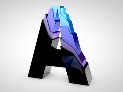 I think of an iceburg when I look at this for some reason. It may be the overall shape and angular design of the letter, or it may have something to do with the cool colors used in the design. I'm not sure.