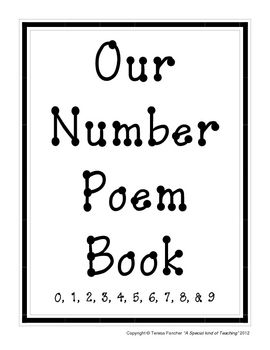 These adorable number poems will help your students learn write and identify their numbers correctly.  It is suggested that you print each number poem on a different color paper.  You can make a class book out of this 11 page document or post the poems around your classroom.
