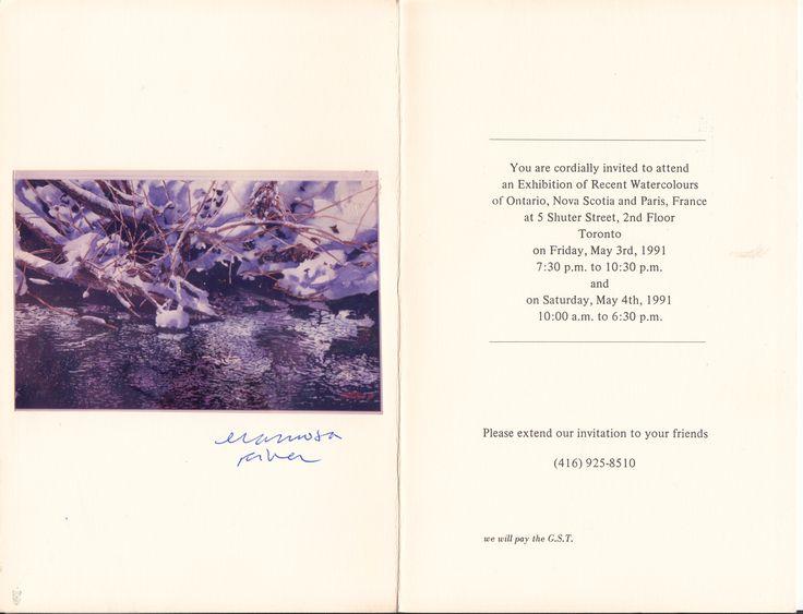 new zarowsky winter work at 5 shuter toronto 1991