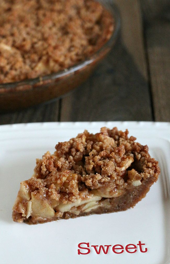 Gluten-free Apple Pie made with a Snickerdoodle Cookie Crust