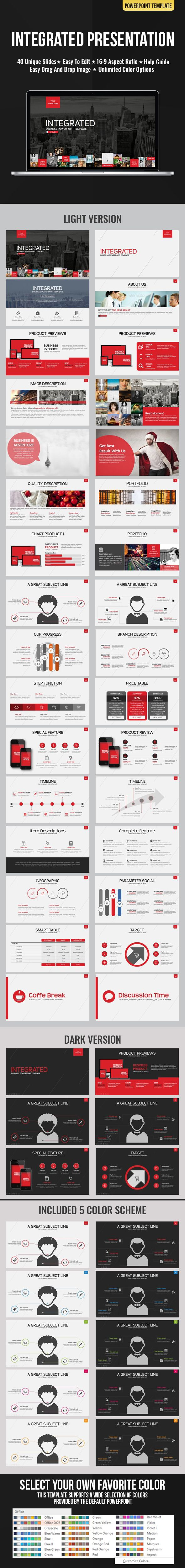 PowerPoint Integrated Presentation Template #design Download: http://graphicriver.net/item/integrated-presentation/12072768?ref=ksioks