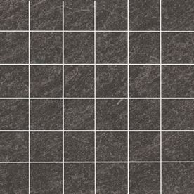 Style Selections Galvano Charcoal Glazed Porcelain Mosaic Square Indoor/Outdoor Square Accent Tile (Common: 12-in x 12-in; Actual: 11.73-in x 11.73-in)