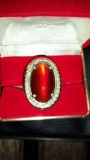 Chalcedony Red Raflesia Cat Eye Bengkulu