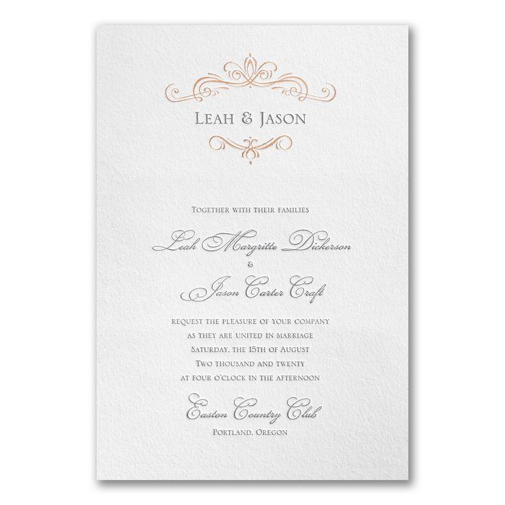 professional wedding invitation