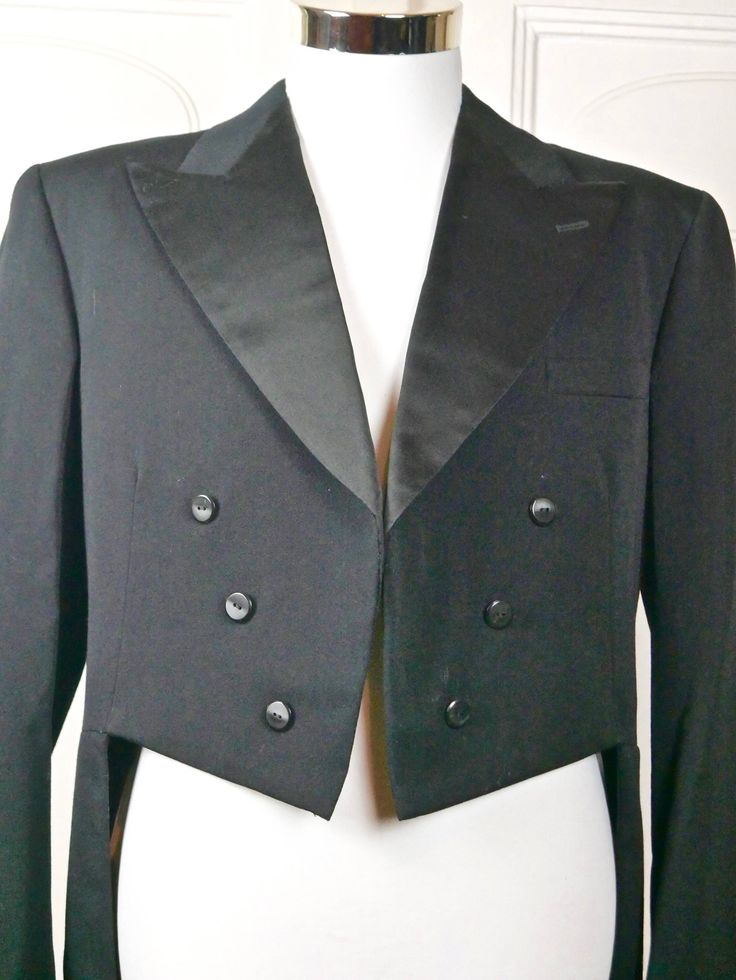 1960s Vintage Tailcoat, Swedish Black Evening Tuxedo w Tails, Black Wool Full-Dress Tailcoat, Steampunk Jacket: Large, 40 US/UK by YouLookAmazing on Etsy