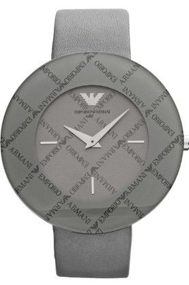 Emporio #Armani Ladies #Watch: This model has stainless steel case with grey dial. The watch has grey leather strap with quarts movement. Free Shipping - £125.99