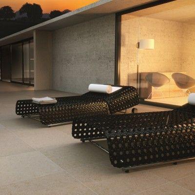 Bradstone Mode porcelain floor tiles Beige Textured 600 x 600 paving slabs x 20 60 Per Pack