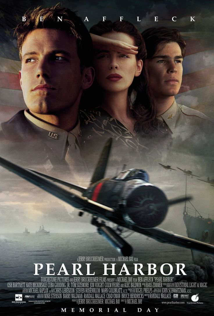 Pearl Harbor follows the story of two best friends, Rafe and Danny, and their love lives as they go off to join the war. (www.imbd.com)