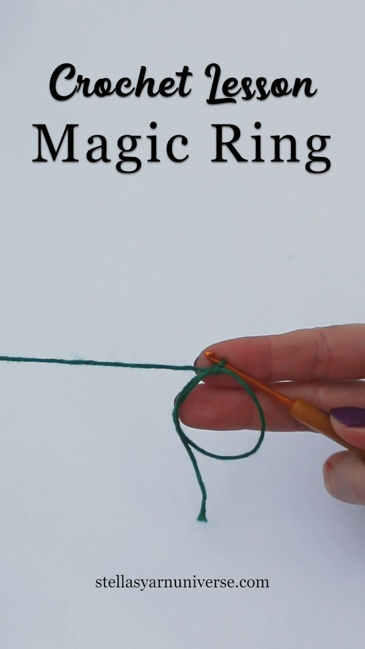 How to make a magic ring in crochet A magic ring i…