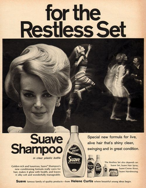 "1966 Suave Shampoo, ""For the restless set"""