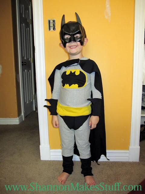 DIY Batman Costume : DIY The Best Ever Batman Costume and Pajamas