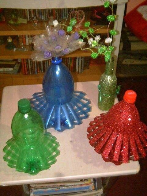 Best out of waste art attack pinterest craft for Crafts from waste plastic bottles