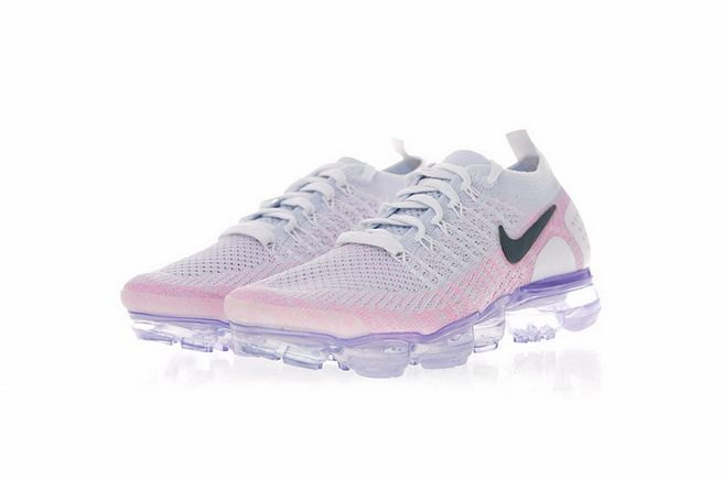 917549fce23c 942843-102 Nike Air Vapormax Flyknit 2 0 Womens Running Shoe Hydrogen Blue  Pink Black