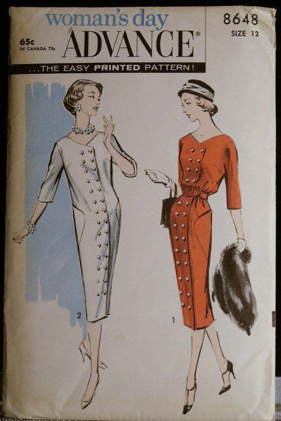 Vintage Sewing Pattern 60s Misses Coat Dress Advance by olivealley, $65.00