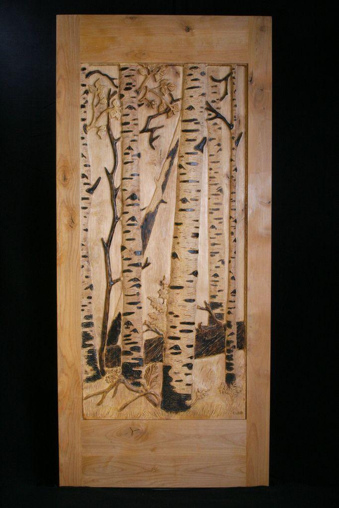 Aspen door for Hand carved wood doors