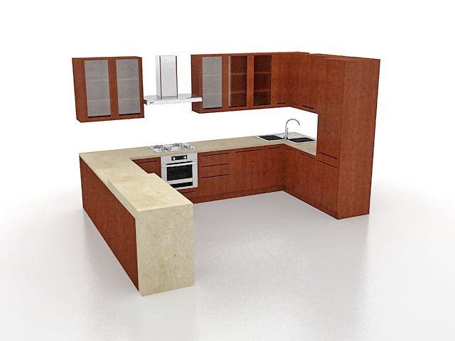 Kitchen Design 3d Model Lean Engine Com