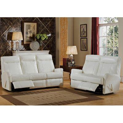 Best Amax Toledo Leather Sofa and Loveseat Set